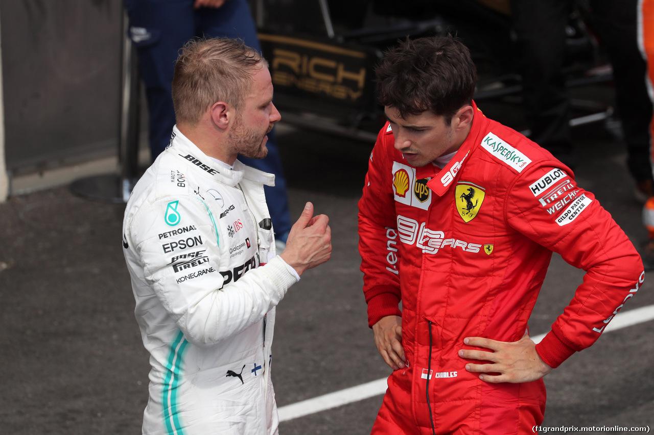 GP FRANCIA, 23.06.2019 - Gara, 2nd place Valtteri Bottas (FIN) Mercedes AMG F1 W010 e 3rd place Charles Leclerc (MON) Ferrari SF90