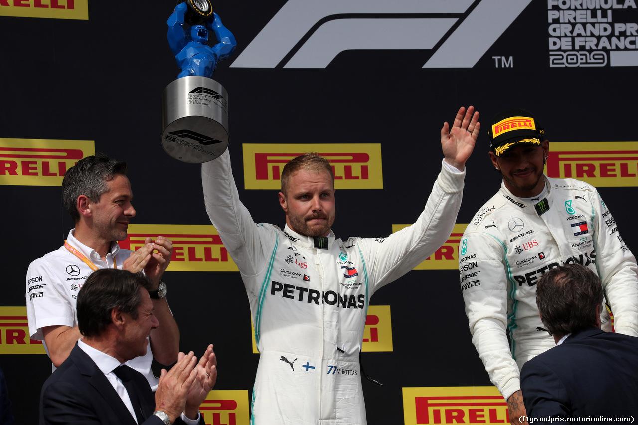GP FRANCIA, 23.06.2019 - Gara, 2nd place Valtteri Bottas (FIN) Mercedes AMG F1 W010