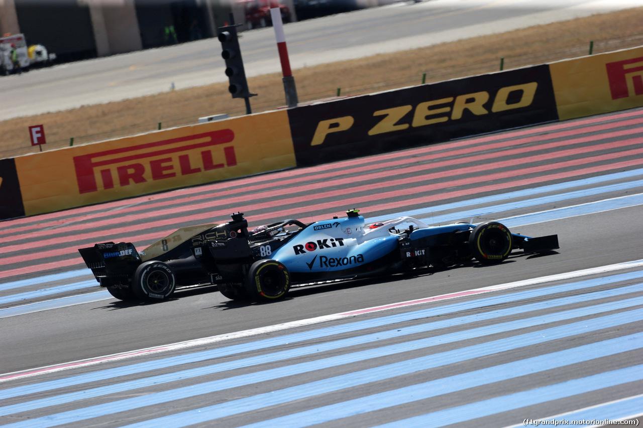 GP FRANCIA, 23.06.2019 - Gara, Romain Grosjean (FRA) Haas F1 Team VF-19 e Robert Kubica (POL) Williams Racing FW42