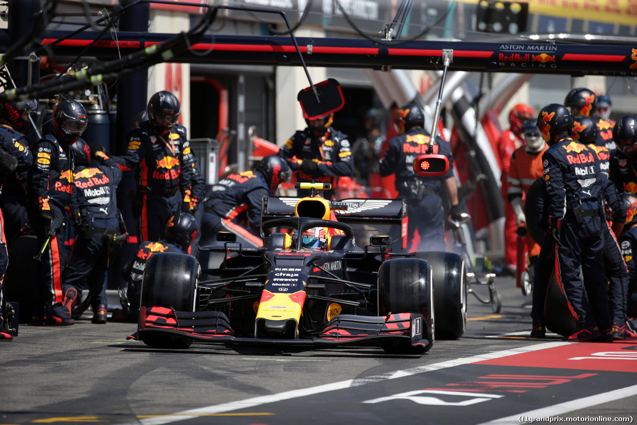 GP FRANCIA, 23.06.2019 - Gara, Pit stop, Pierre Gasly (FRA) Red Bull Racing RB15