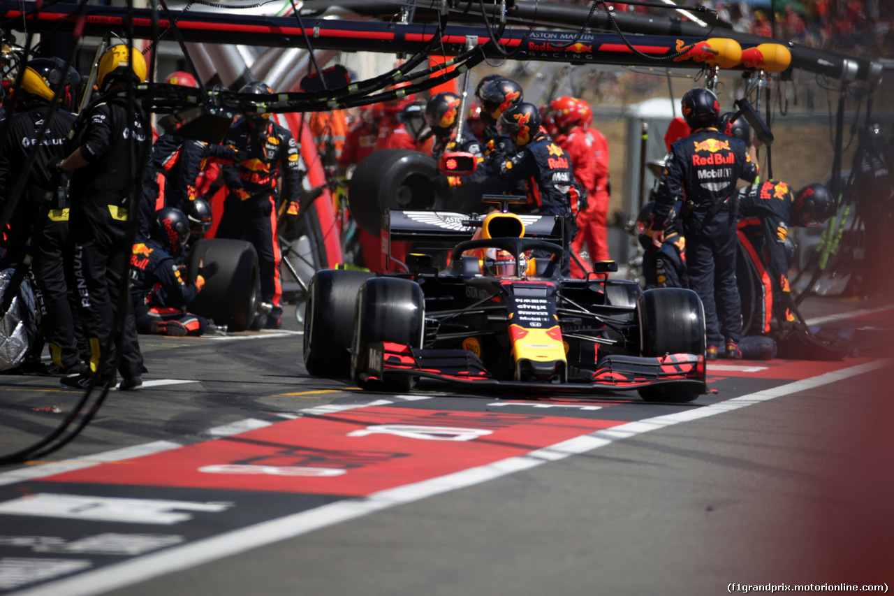 GP FRANCIA, 23.06.2019 - Gara, Pit stop, Max Verstappen (NED) Red Bull Racing RB15