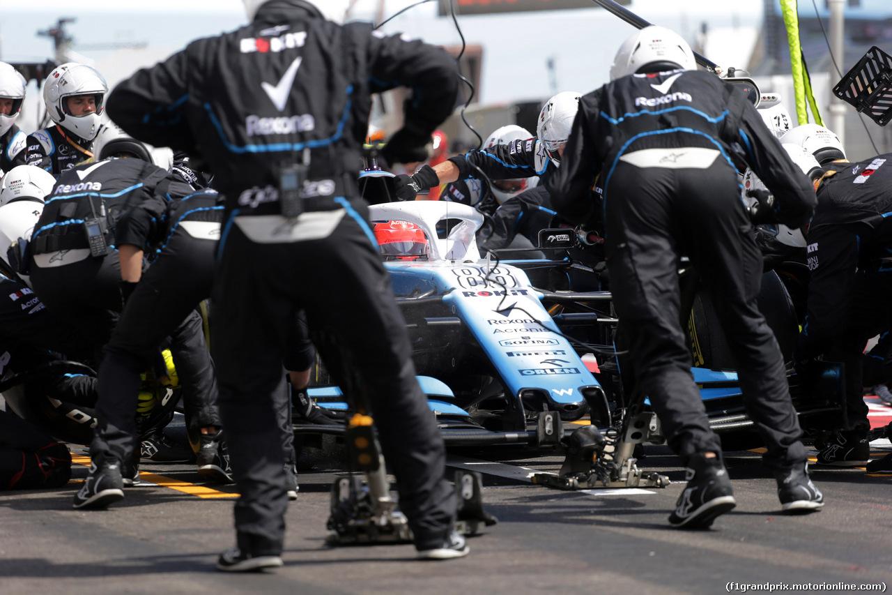GP FRANCIA, 23.06.2019 - Gara, Pit stop, Robert Kubica (POL) Williams Racing FW42