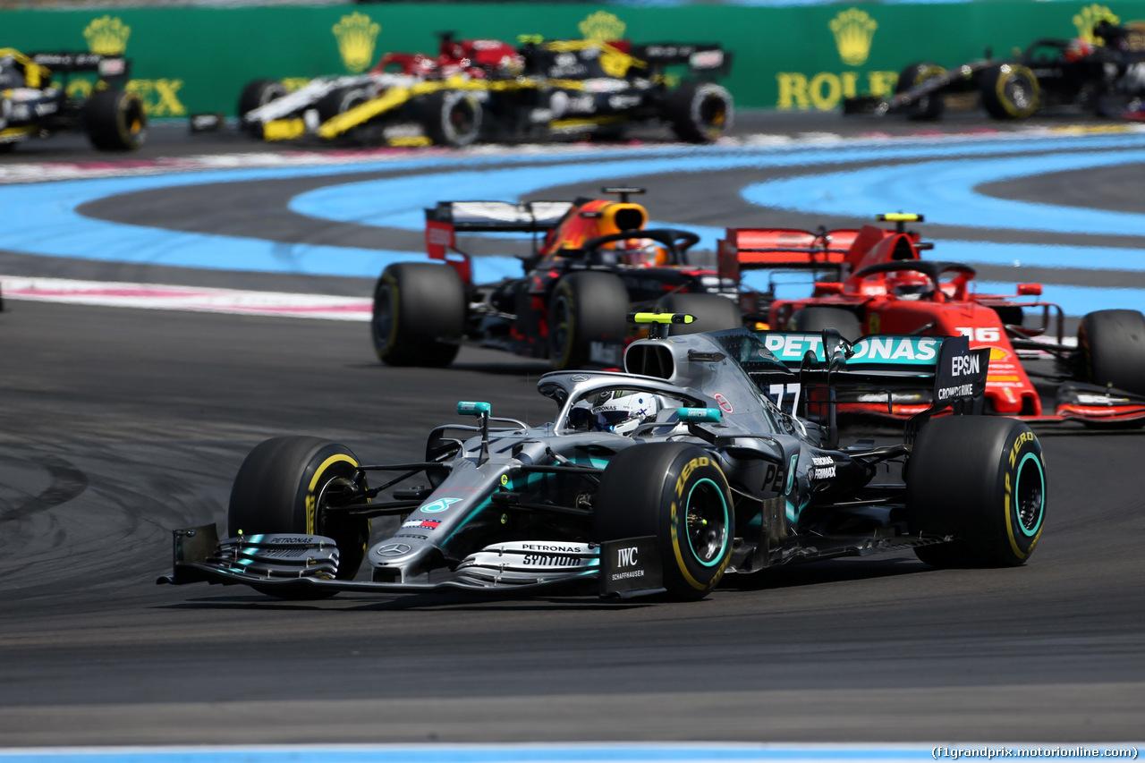 GP FRANCIA, 23.06.2019 - Gara, Valtteri Bottas (FIN) Mercedes AMG F1 W010