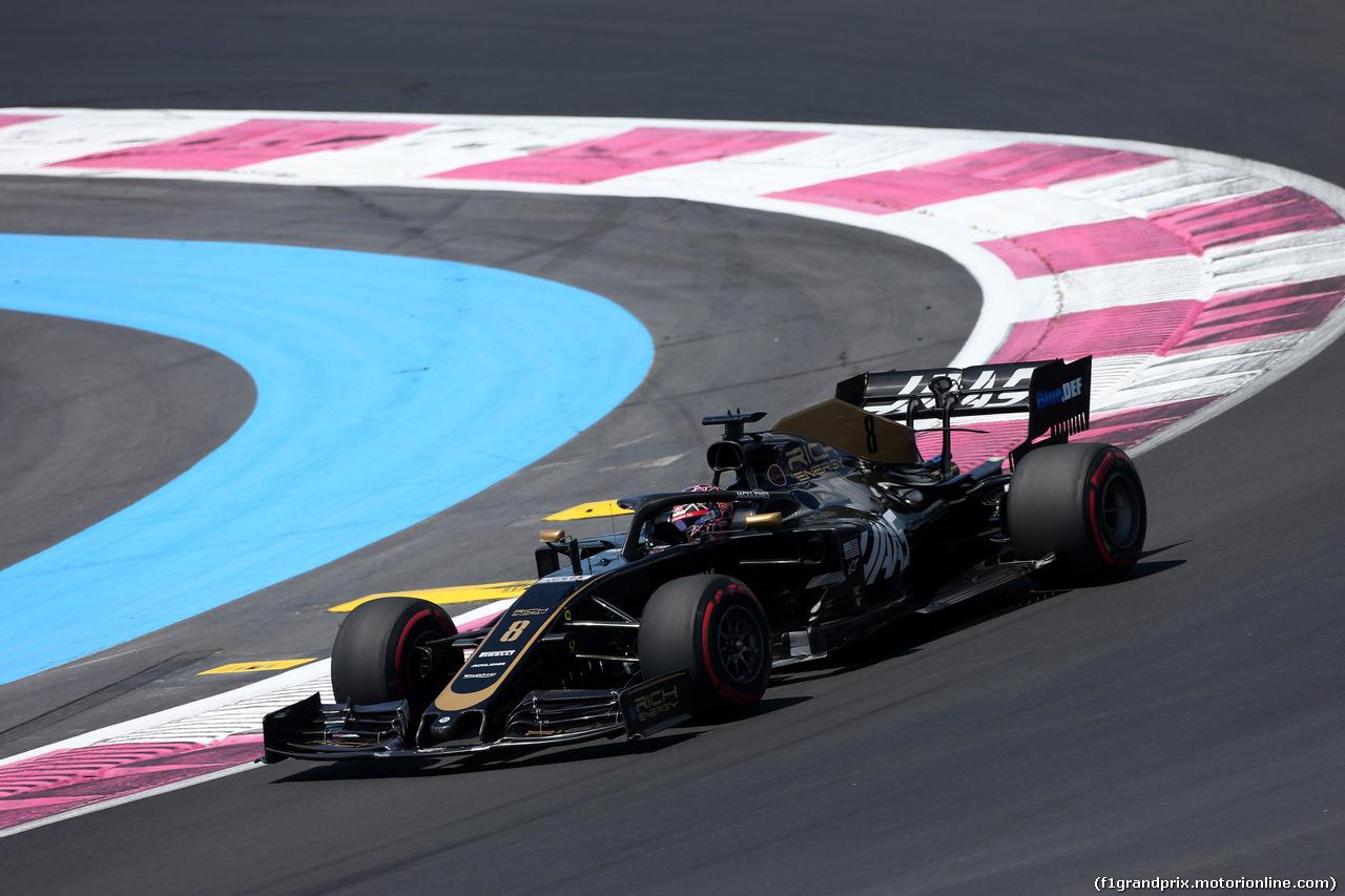 GP FRANCIA, 22.06.2019 - Prove Libere 3, Romain Grosjean (FRA) Haas F1 Team VF-19