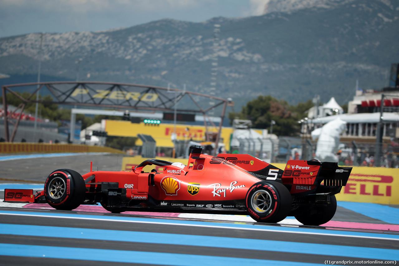 GP FRANCIA, 22.06.2019 - Prove Libere 3, Sebastian Vettel (GER) Ferrari SF90