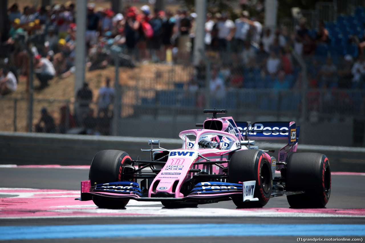 GP FRANCIA, 22.06.2019 - Prove Libere 3, Sergio Perez (MEX) Racing Point F1 Team RP19