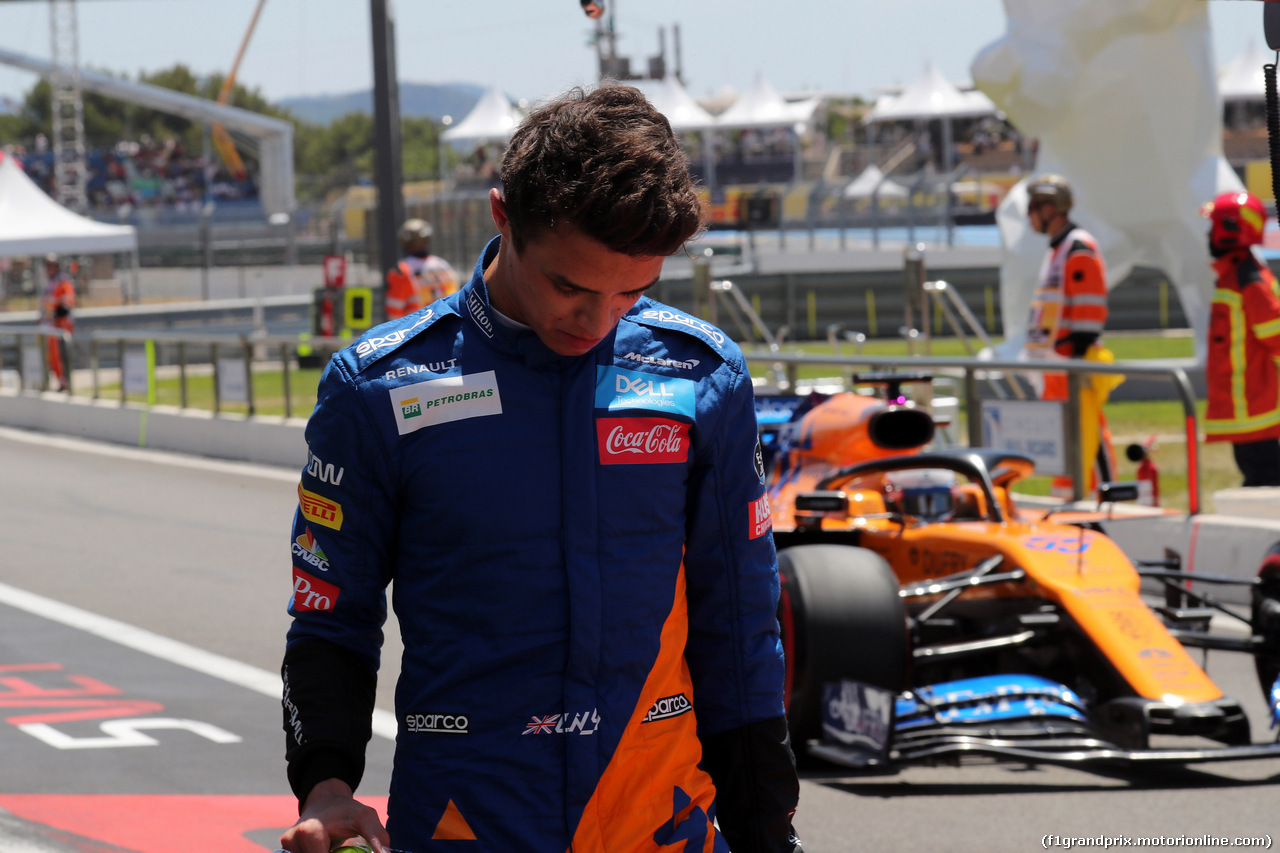 GP FRANCIA, 22.06.2019 - Prove Libere 3, Lando Norris (GBR) Mclaren F1 Team MCL34 e Carlos Sainz Jr (ESP) Mclaren F1 Team MCL34