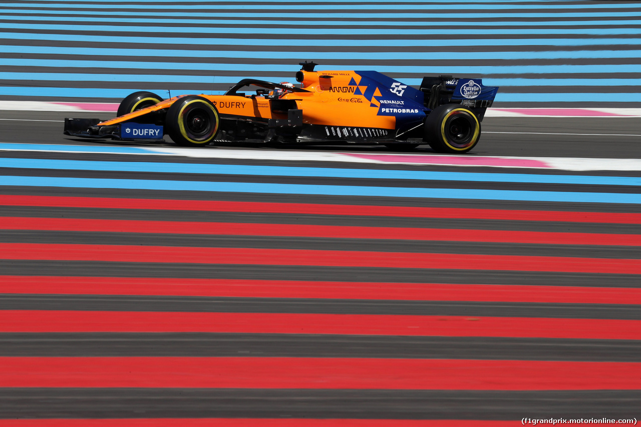 GP FRANCIA, 22.06.2019 - Qualifiche, Carlos Sainz Jr (ESP) Mclaren F1 Team MCL34