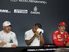 GP FRANCIA, 22.06.2019 - Qualifiche, Conferenza Stampa, Valtteri Bottas (FIN) Mercedes AMG F1 W010, Lewis Hamilton (GBR) Mercedes AMG F1 W10 e Charles Leclerc (MON) Ferrari SF90