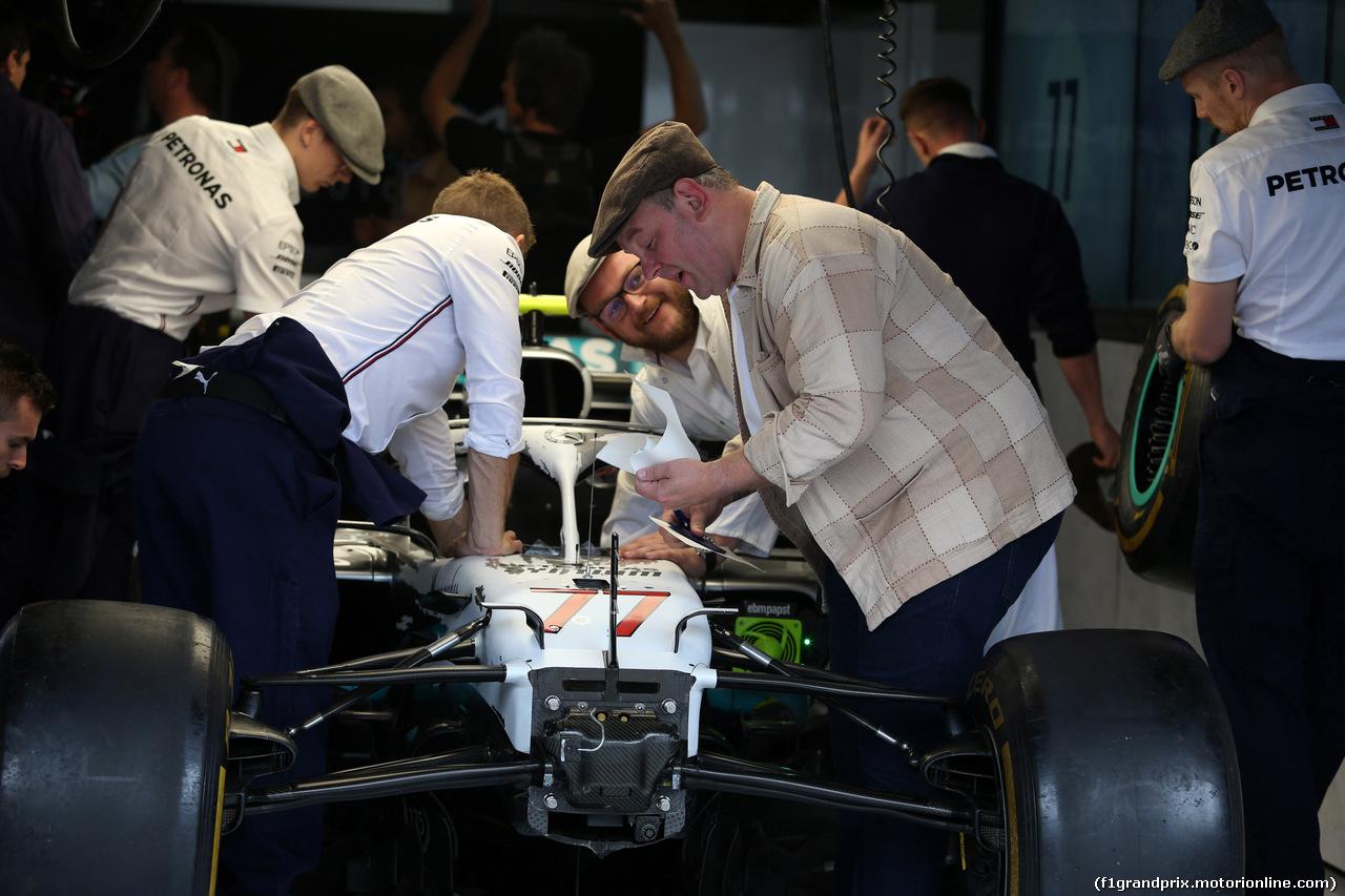 GP GERMANIA, 28.07.2019 - Mercedes AMG F1 in vintage clothing to celebrate 125 years in motorsport