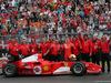 GP GERMANIA, 28.07.2019 - Mick Schumacher (GER) Ferrari Test Driver e the Ferrari F2003-GA driven by his father Michael Schumacher