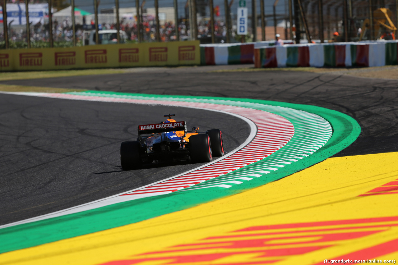 GP GIAPPONE, 13.10.2019- Qualifiche, Carlos Sainz Jr (ESP) Mclaren F1 Team MCL34