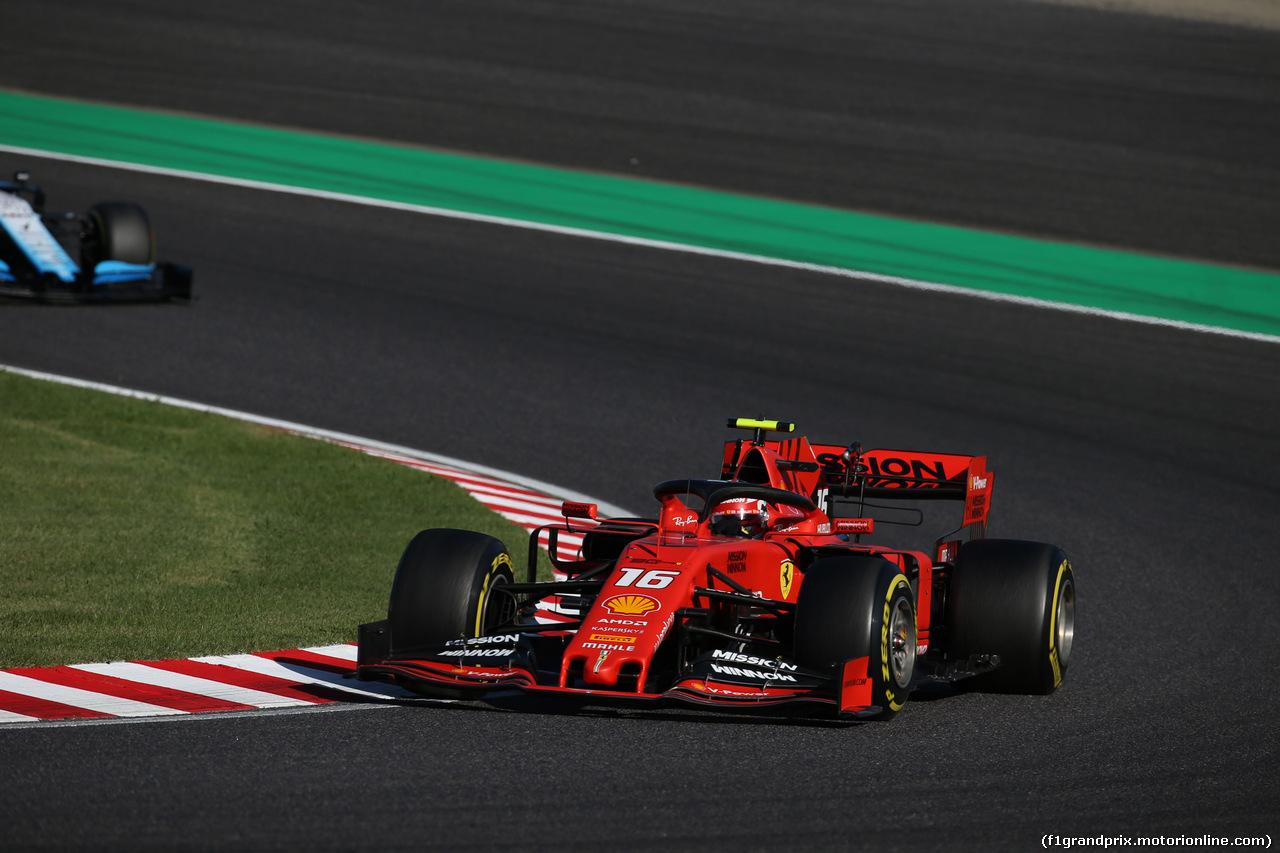 GP GIAPPONE, 13.10.2019- Gara, Charles Leclerc (MON) Ferrari SF90