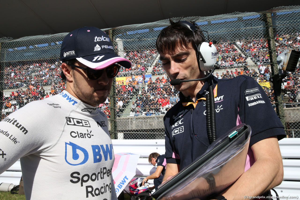 GP GIAPPONE, 13.10.2019- partenzaing grid,  Sergio Perez (MEX) Racing Point F1 RP19