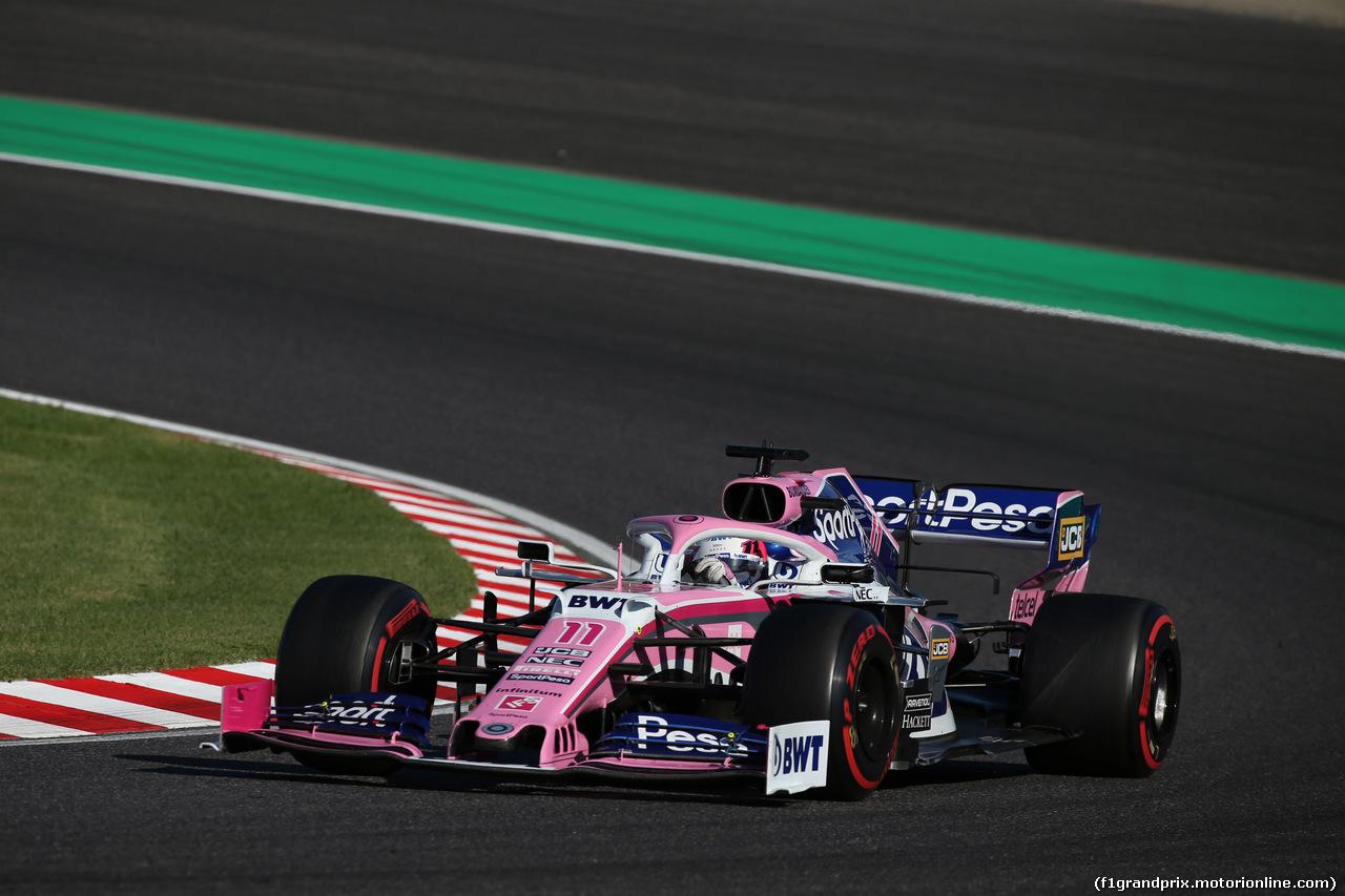 GP GIAPPONE, 13.10.2019- Gara, Sergio Perez (MEX) Racing Point F1 RP19