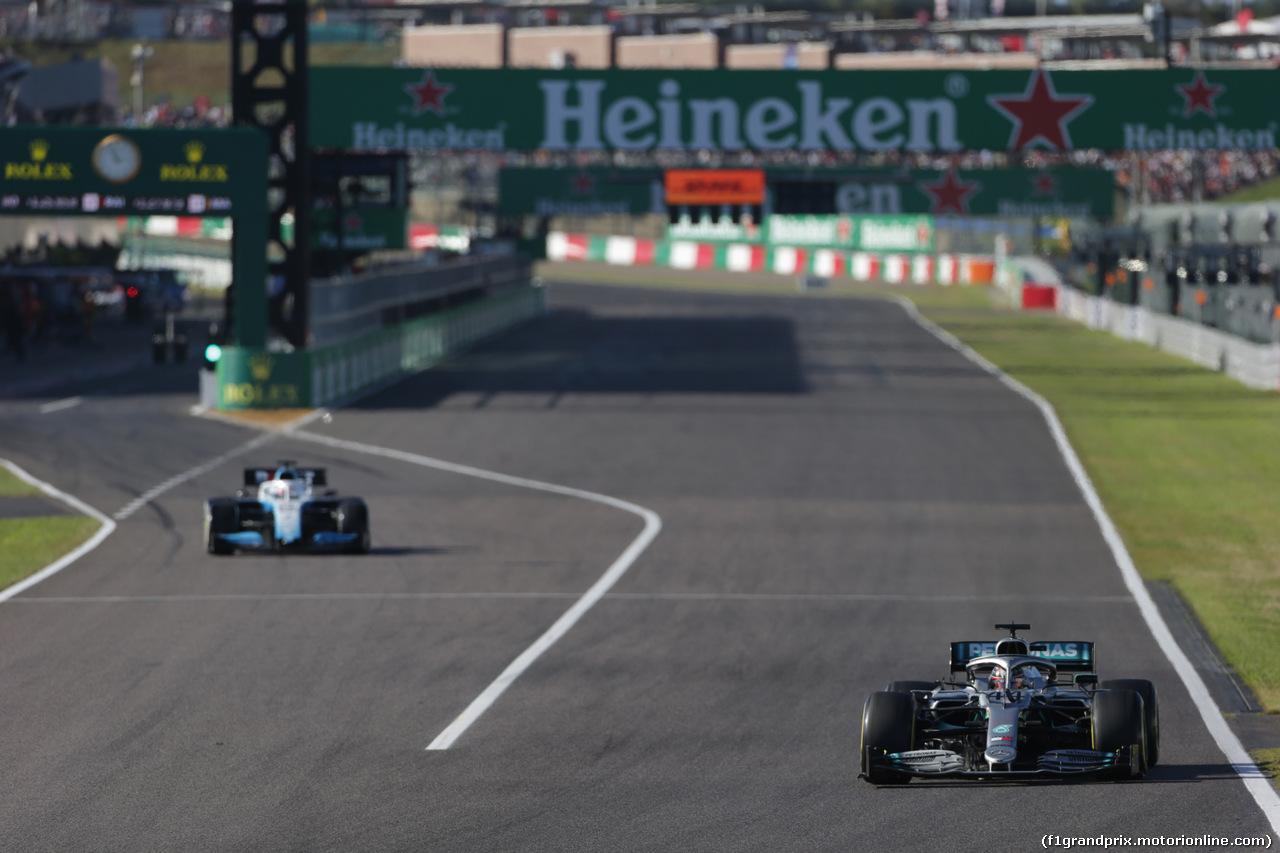 GP GIAPPONE, 13.10.2019- Gara, Lewis Hamilton (GBR) Mercedes AMG F1 W10 EQ Power