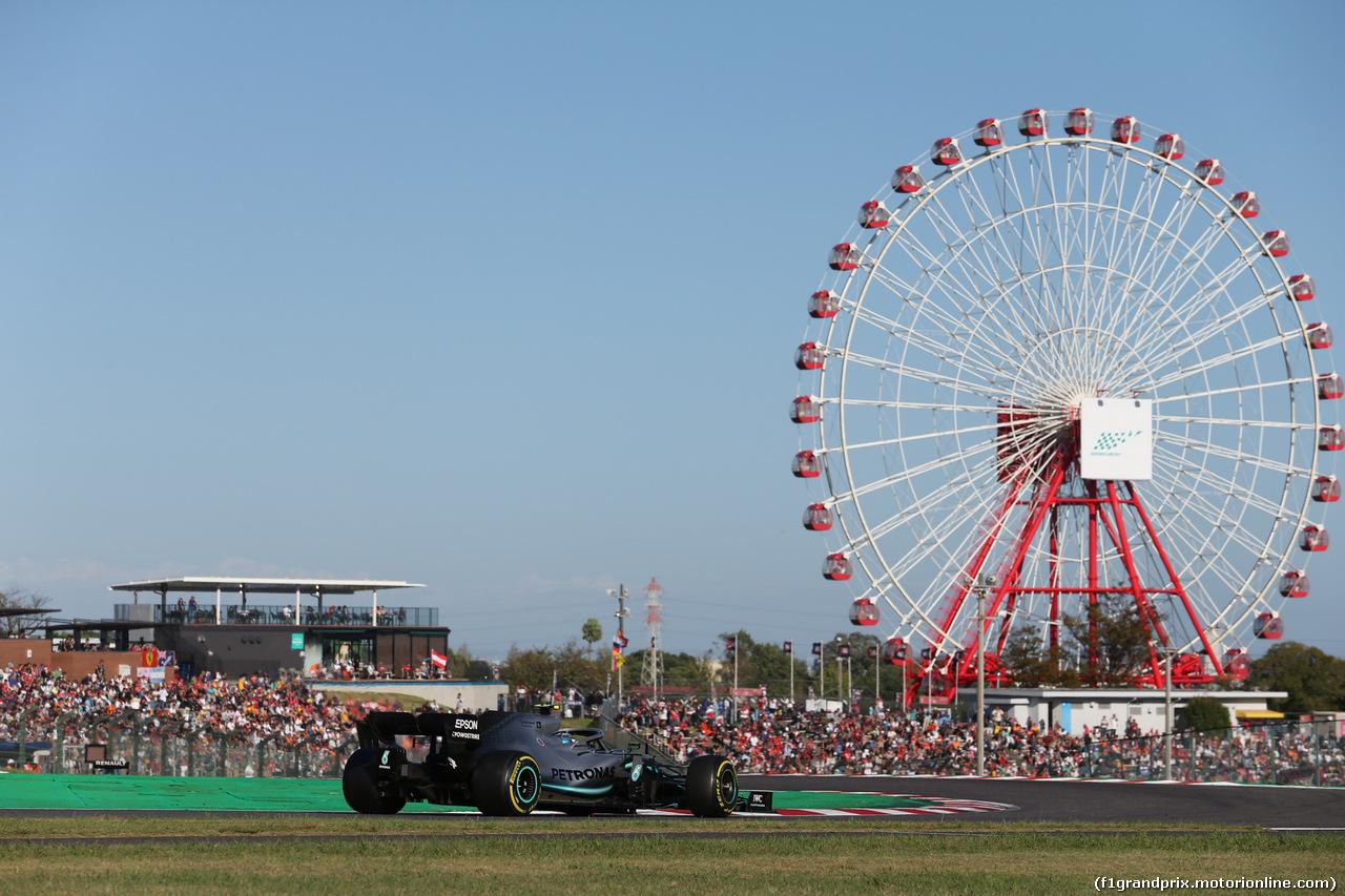 GP GIAPPONE, 13.10.2019- Gara, Valtteri Bottas (FIN) Mercedes AMG F1 W10 EQ Power