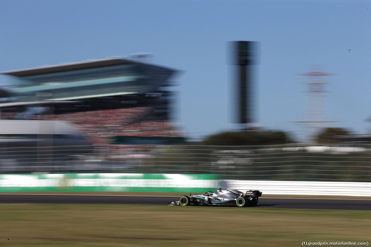 GP GIAPPONE, 13.10.2019- Gara, Valtteri Bottas (FIN) Mercedes AMG F1 W10 EQ Power