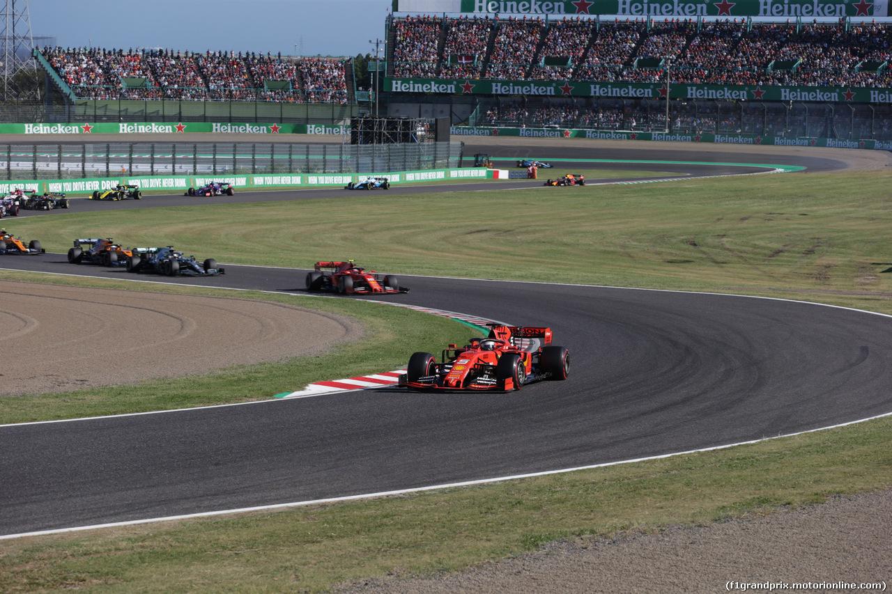 GP GIAPPONE, 13.10.2019- Gara, Sebastian Vettel (GER) Ferrari SF90