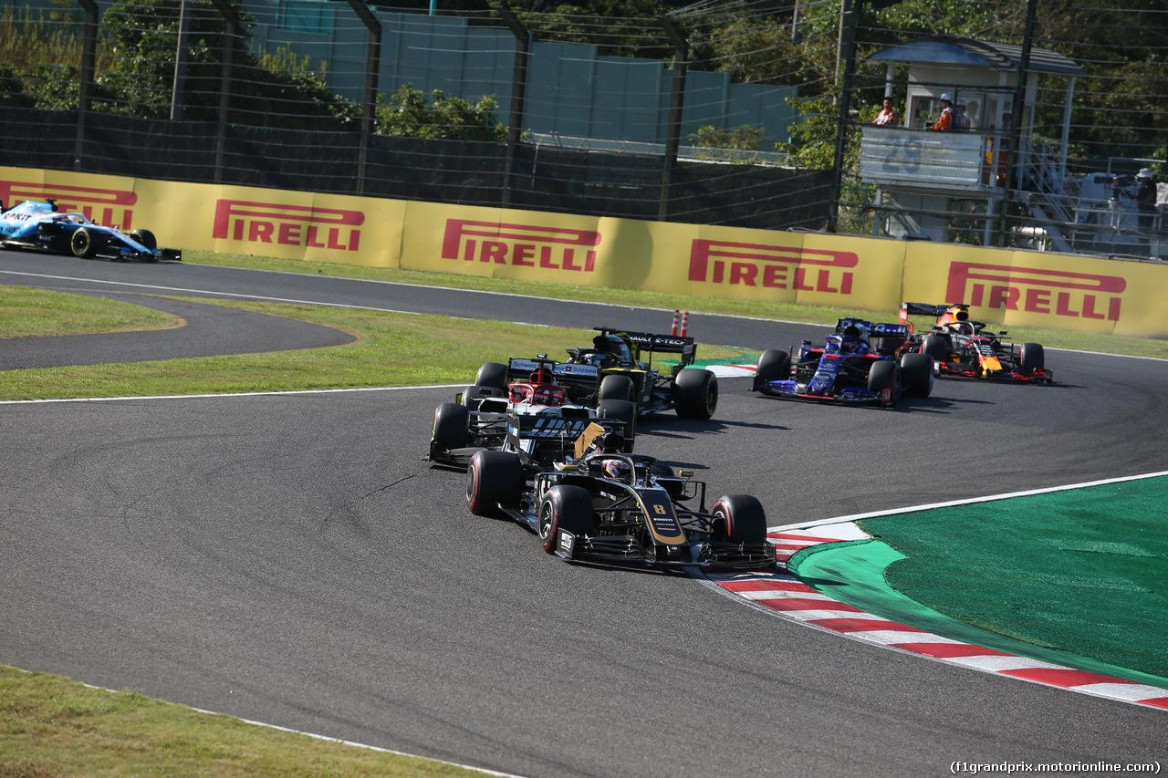GP GIAPPONE, 13.10.2019- Gara, Romain Grosjean (FRA) Haas F1 Team VF-19