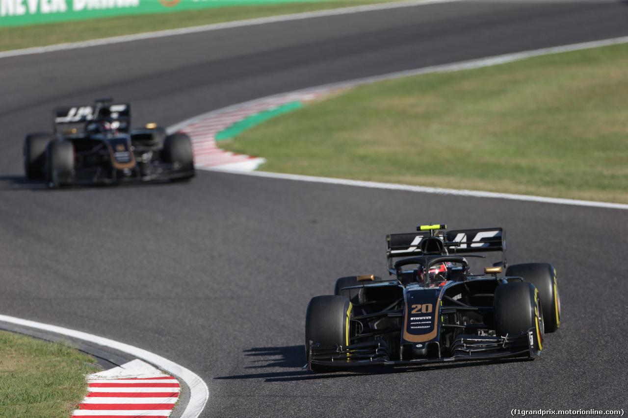GP GIAPPONE, 13.10.2019- Gara, Kevin Magnussen (DEN) Haas F1 Team VF-19