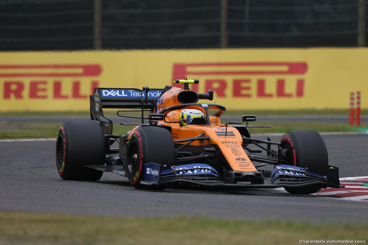 GP GIAPPONE, 11.10.2019- Prove Libere 1, Lando Norris (GBR) Mclaren F1 Team MCL34
