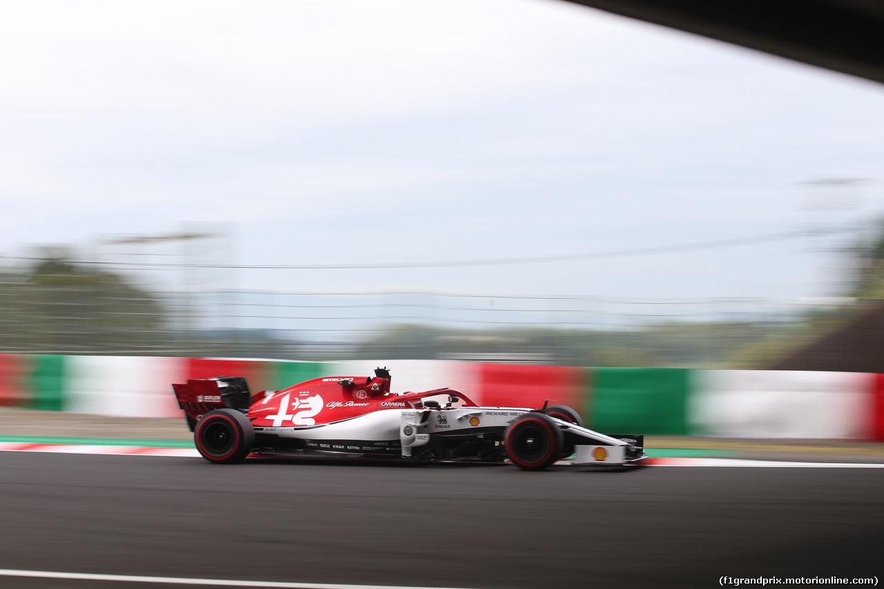 GP GIAPPONE, 11.10.2019- Prove Libere 1, Kimi Raikkonen (FIN) Alfa Romeo Racing C38
