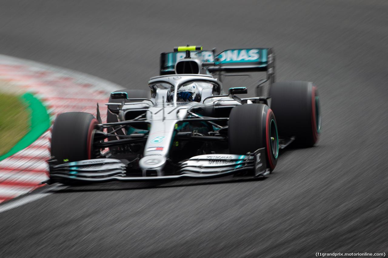 GP GIAPPONE, 11.10.2019- Prove Libere 2, Valtteri Bottas (FIN) Mercedes AMG F1 W10 EQ Power