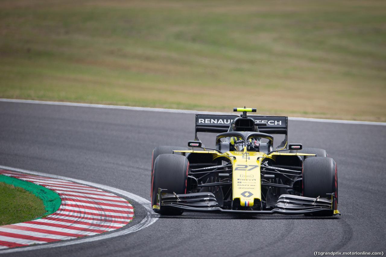 GP GIAPPONE, 11.10.2019- Prove Libere 2, Nico Hulkenberg (GER) Renault Sport F1 Team RS19