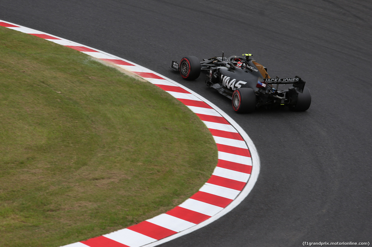 GP GIAPPONE, 11.10.2019- Prove Libere 2, Kevin Magnussen (DEN) Haas F1 Team VF-19