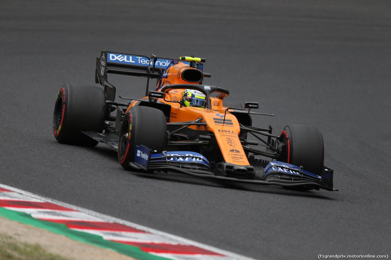 GP GIAPPONE, 11.10.2019- Prove Libere 2, Lando Norris (GBR) Mclaren F1 Team MCL34