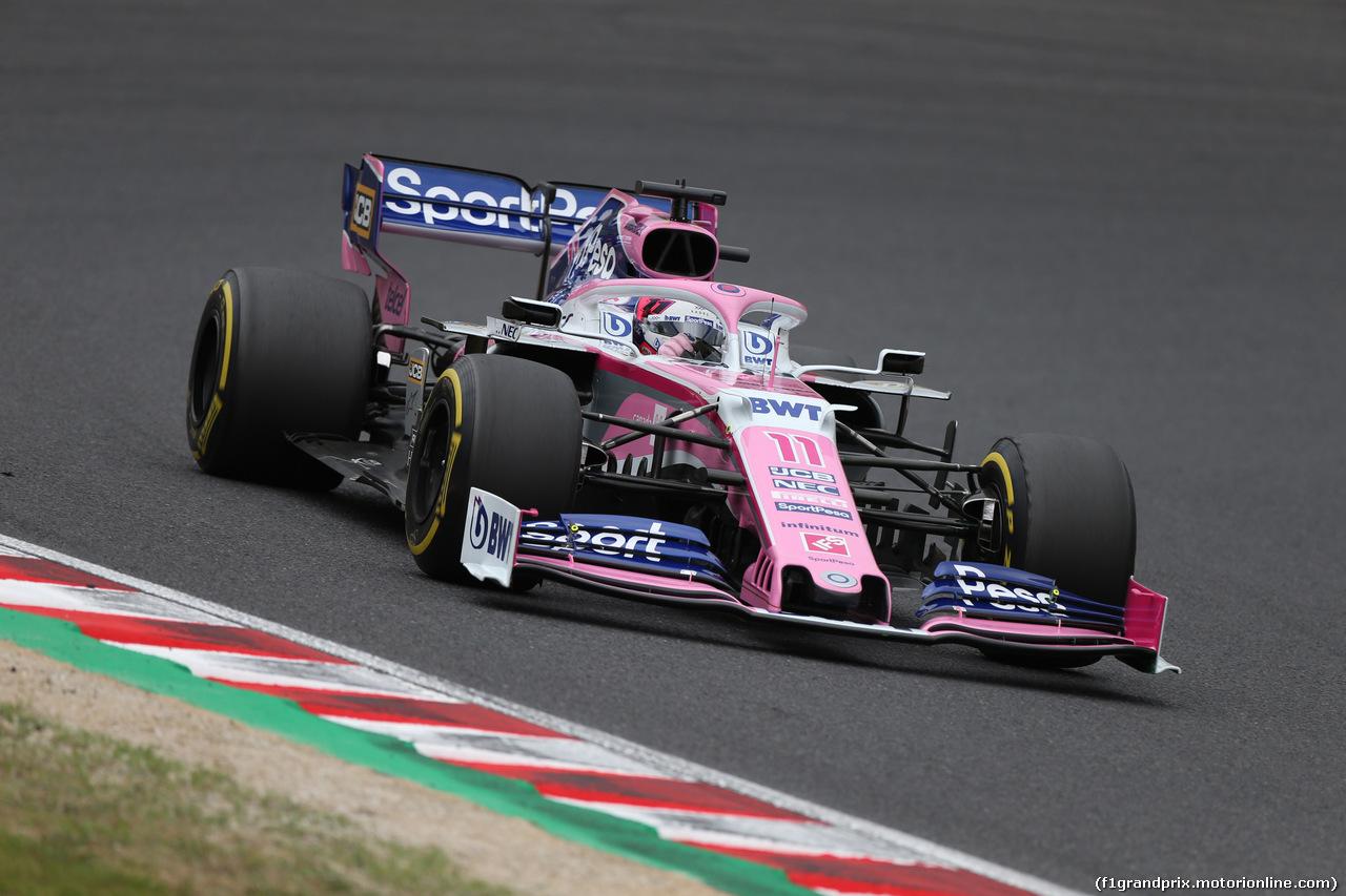 GP GIAPPONE, 11.10.2019- Prove Libere 2, Sergio Perez (MEX) Racing Point F1 RP19