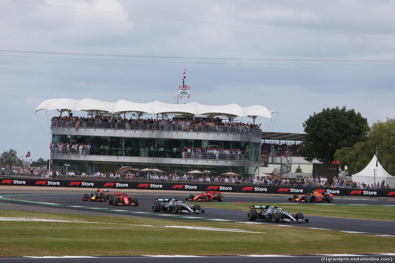 GP GRAN BRETAGNA, 14.07.2019- Gara, Valtteri Bottas (FIN) Mercedes AMG F1 W10 EQ Power