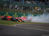 GP GRAN BRETAGNA, 14.07.2019- Gara,  Sebastian Vettel (GER) Ferrari SF90 crash with Max Verstappen (NED) Red Bull Racing RB15