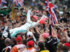 GP GRAN BRETAGNA, 14.07.2019- Lewis Hamilton (GBR) Mercedes AMG F1 W10 EQ Power celebrates his victory with the fans