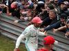 GP GRAN BRETAGNA, 14.07.2019- Lewis Hamilton (GBR) Mercedes AMG F1 W10 EQ Power celebrates his victory with the fans