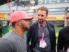 GP GRAN BRETAGNA, 14.07.2019- partenzaing grid,  Nicolas Hamilton (GBR) with Gareth Southgate (GBR) England Football Manager