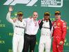 GP GRAN BRETAGNA, 14.07.2019- podium, winner Lewis Hamilton (GBR) Mercedes AMG F1 W10 EQ Power, 2nd place Valtteri Bottas (FIN) Mercedes AMG F1 W10 EQ Power, 3rd place Charles Leclerc (MON) Ferrari SF90
