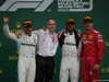 GP GRAN BRETAGNA, 14.07.2019- podium, winner Lewis Hamilton (GBR) Mercedes AMG F1 W10 EQ Power, 2nd place Valtteri Bottas (FIN) Mercedes AMG F1 W10 EQ Power, 3rd place Charles Leclerc (MON) Ferrari SF90