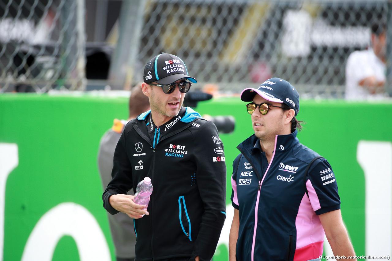 GP ITALIA, 08.09.2019 - Robert Kubica (POL) Williams Racing FW42 e Sergio Perez (MEX) Racing Point F1 Team RP19