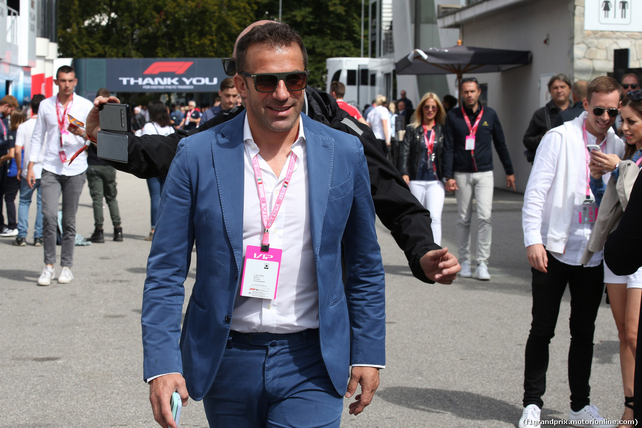 GP ITALIA, 08.09.2019 - Alessandro Del Piero (ITA Former football player