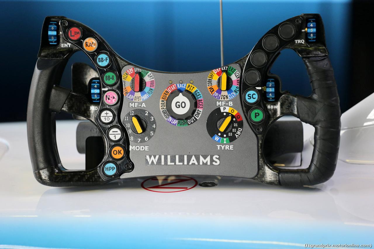 GP ITALIA, 08.09.2019 - Gara, The steering wheel of Williams Racing FW42