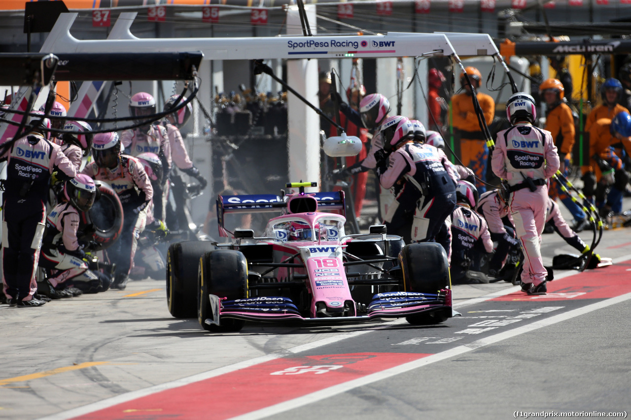 GP ITALIA, 08.09.2019 - Gara, Pit stop, Lance Stroll (CDN) Racing Point F1 Team RP19