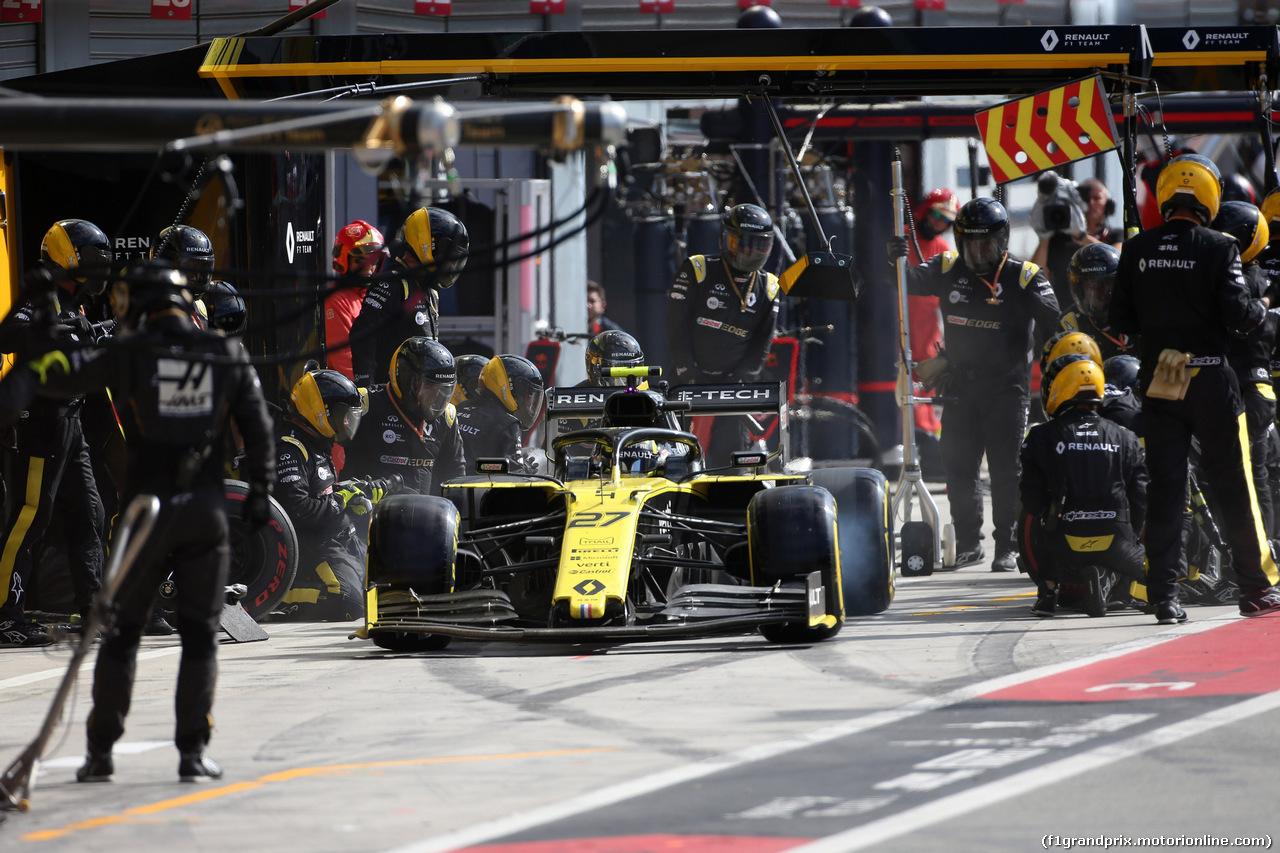 GP ITALIA, 08.09.2019 - Gara, Pit stop, Nico Hulkenberg (GER) Renault Sport F1 Team RS19