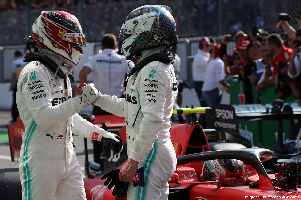 GP ITALIA, 08.09.2019 - Gara, 3rd place Lewis Hamilton (GBR) Mercedes AMG F1 W10 e 2nd place Valtteri Bottas (FIN) Mercedes AMG F1 W010