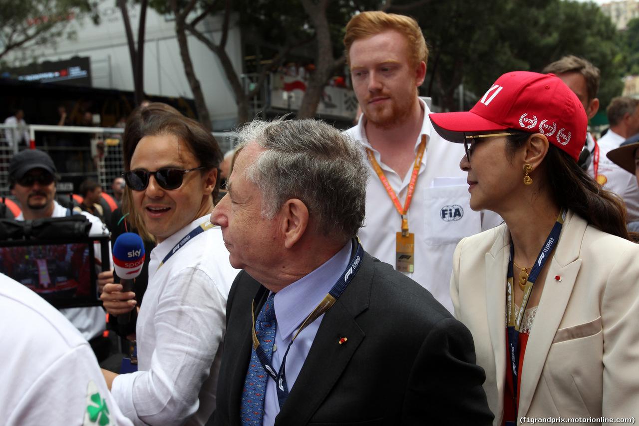 GP MONACO, 26.05.2019 - Gara, Felipe Massa (BRA) e Jean Todt (FRA), President FIA