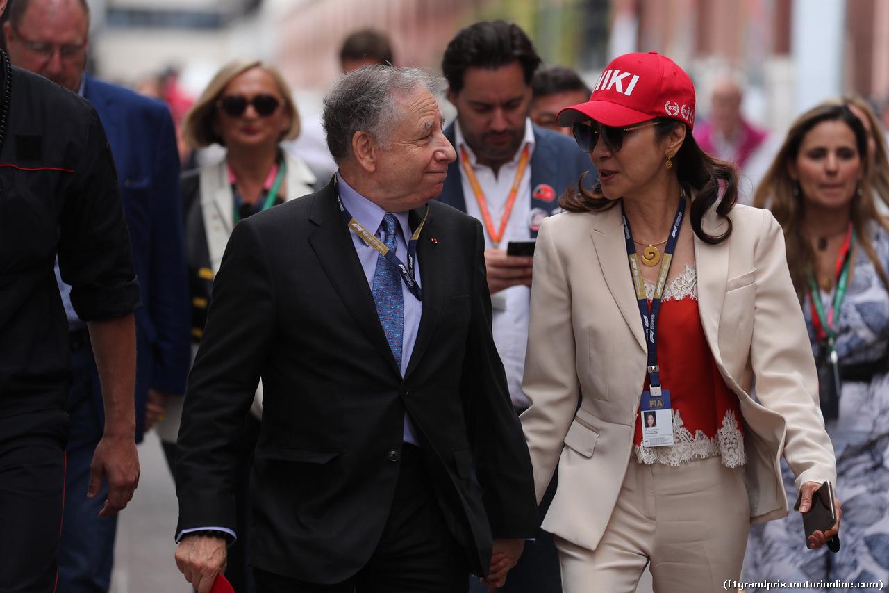 GP MONACO, 26.05.2019 - Gara, Jean Todt (FRA), President FIA e Michelle Yeoh, wife of Jean Todt (FRA)