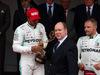 GP MONACO, 26.05.2019 - Gara, Lewis Hamilton (GBR) Mercedes AMG F1 W10 vincitore, HSH Prince Albert II of Monaco e 3rd place Valtteri Bottas (FIN) Mercedes AMG F1 W010