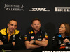 GP MONACO, 23.05.2019 - Conferenza Stampa, Cyril Abiteboul (FRA) Renault Sport F1 Managing Director, Christian Horner (GBR), Red Bull Racing Team Principal e Claire Williams (GBR) Williams Deputy Team Principal.