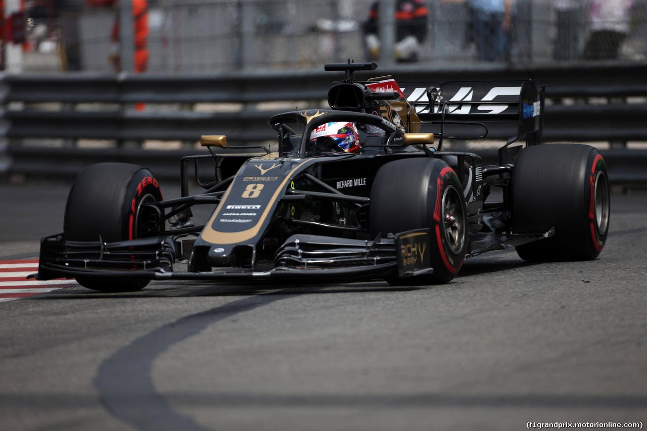 GP MONACO, 25.05.2019 - Prove Libere 3, Romain Grosjean (FRA) Haas F1 Team VF-19
